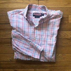 Vineyard Vines Pink Plaid Shirt M